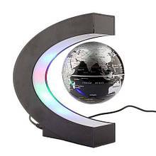 Антигравитационный летающий плавающий глобус левитрон Globe Silver