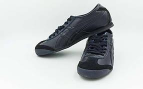 Обувь спортивная мужская Кожа ASICS OB-316-NV (р-р 40-45) TIGER (кожа,PVC, подошва-RB, черный)