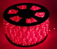 Дюралайт LED Красный 50 метров\уличный. Дюралайт светодиодный LED-2WRL-13 mm