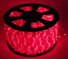 Дюралайт LED Красный 100 метров\уличный. Дюралайт светодиодный LED-2WRL-13 mm