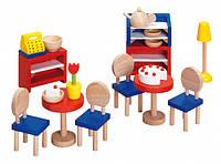 Деревянный набор мебели для кукол goki 51690g Бистро