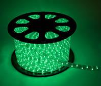 Дюралайт LED Зелёный 100 метров\уличный.Дюралайт светодиодный LED-2WRL-13 mm