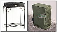 Мангал кованный стальной (4мм) со съемным коробом и накидкой (чехлом) М28-4ч, фото 1
