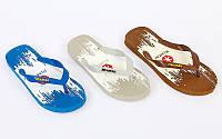 Вьетнамки пляжные мужские MT9 (р-р 10-13, RUS-40-42, резина, EVA, цвета в ассортименте)