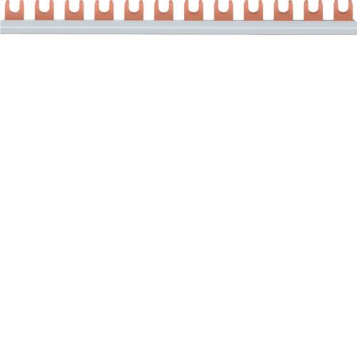 Шина соединительная вилочная Hager KDN180A, 1-полюсная на 12 модулей