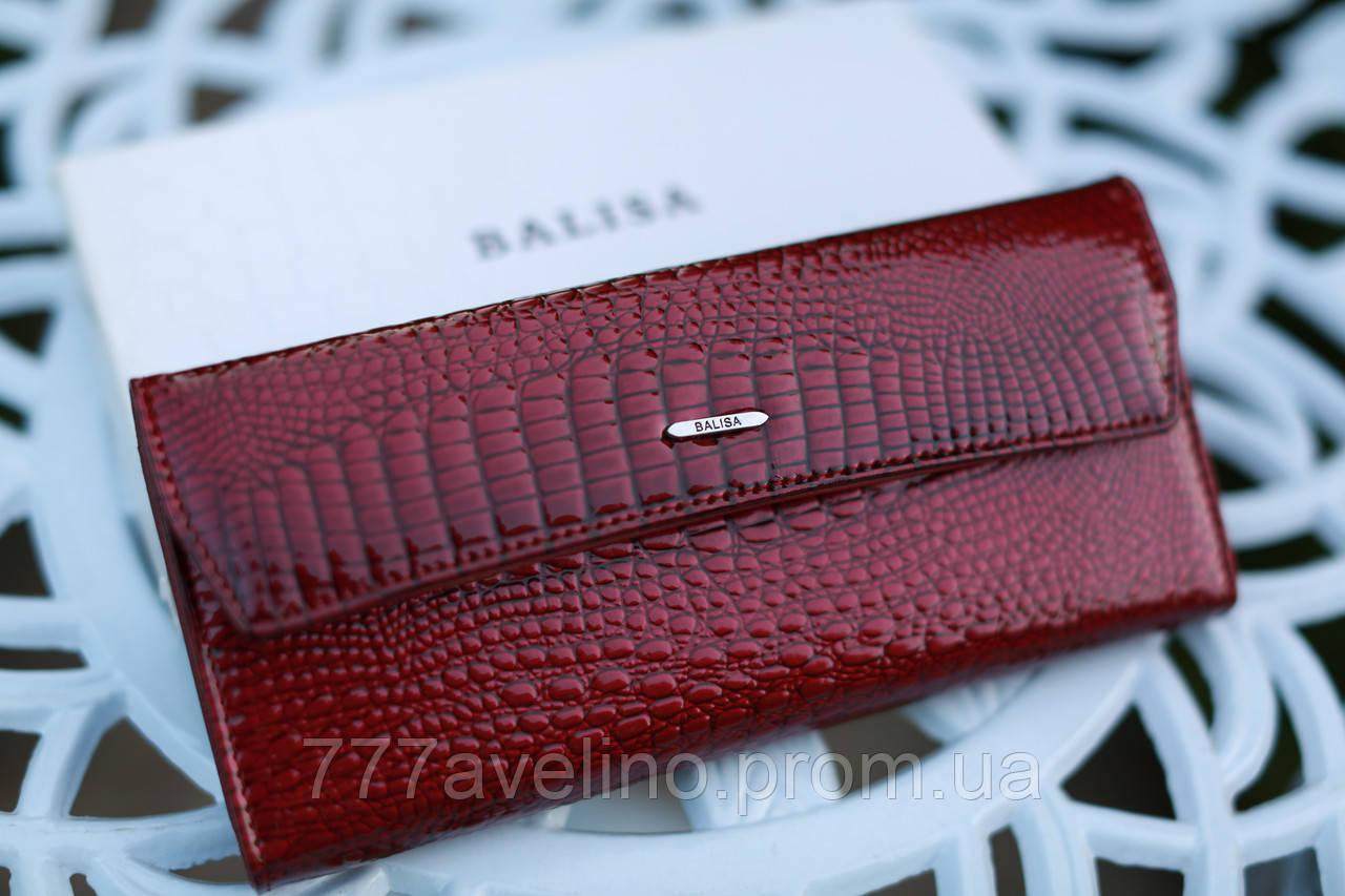 Кошелек женский кожаный бордовый модный Balisa