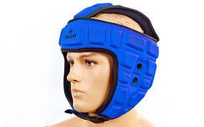 Шлем для тхэквондо ZEL MA-4539-BL (EVA, нейлон, синий, р-р L-XL)