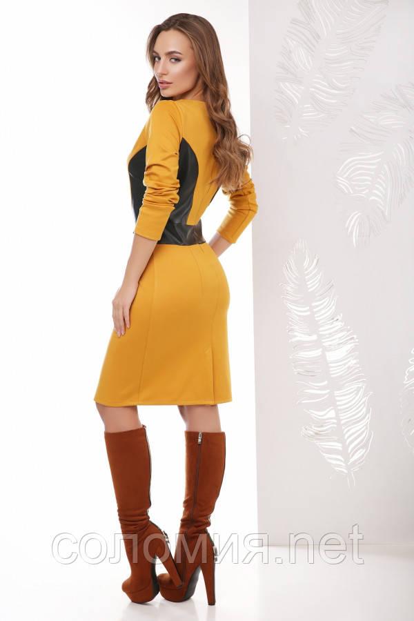 Платье 1768 горчица