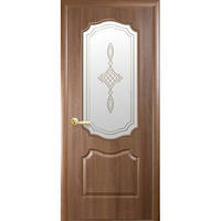 Межкомнатная дверь ПВХ 1/2 Вензель золота ольха 80 рисунок