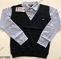 "Рубашка-обманка на мальчика (10-13 лет) ""Bisen"" LM-525"