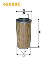 Фильтр воздушный DAF  F 2100, F 2300, F 2500, F 2700; IVECO; MAN; MВ ОЕ 607179 WIX-Filtron 42608E