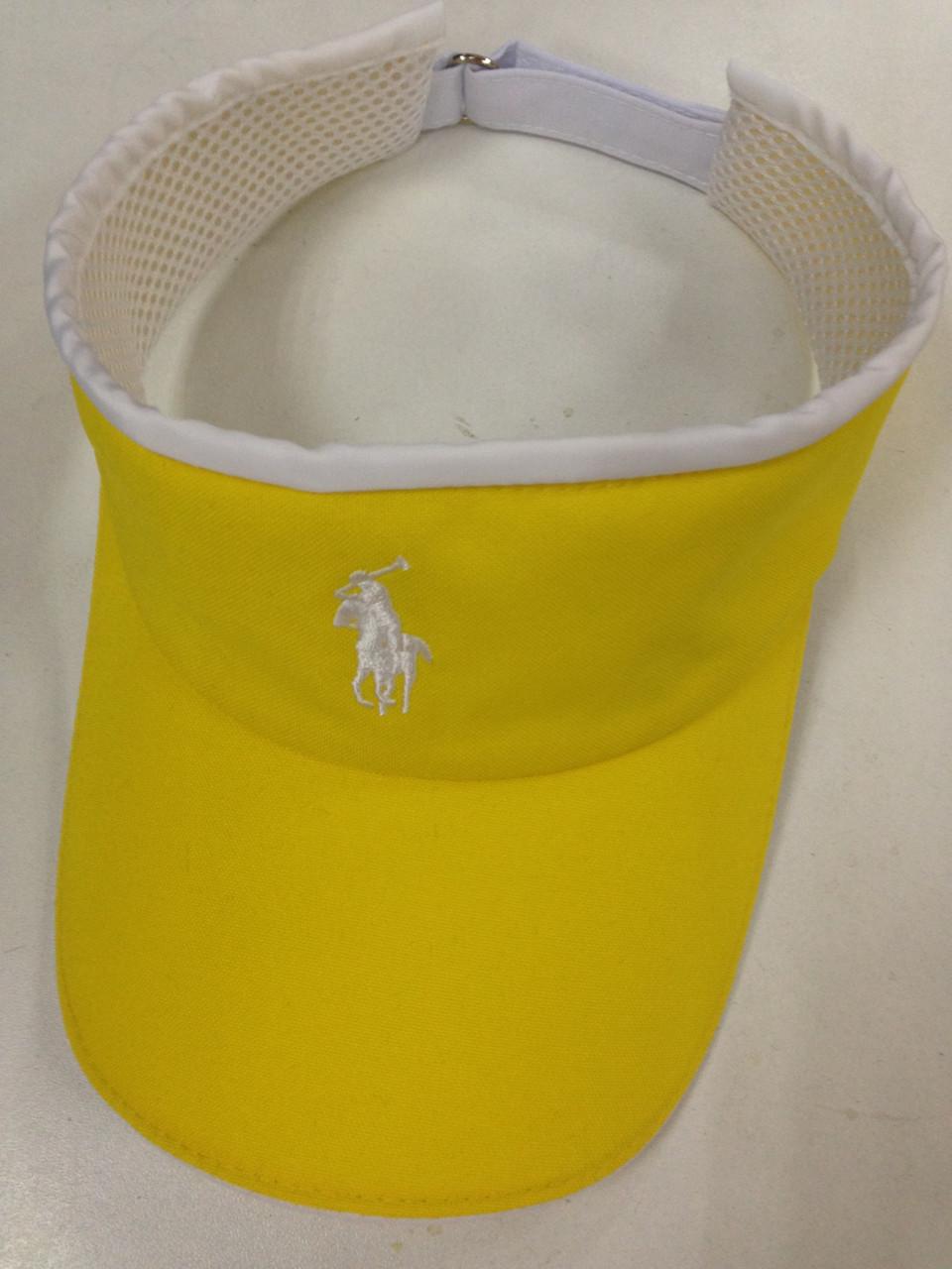 Жовтий річний козирок з спортивним логотипом