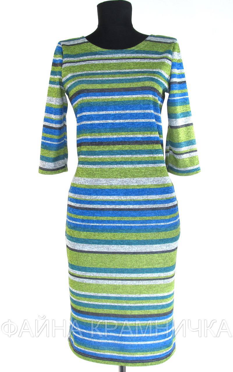 """Сукня жін. """"Акварель"""" смужки синій/зелений рр.50-56"""
