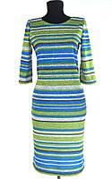 """Сукня жін. """"Акварель"""" смужки синій/зелений рр.50-56, фото 1"""
