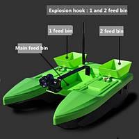 Прикормочный кораблик Flytec003 (уценка) радиоуправляемый для рыбалки прикормки, фото 1