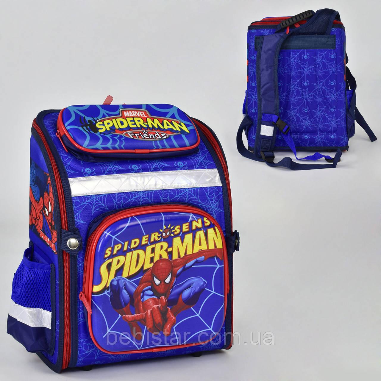 Школьный рюкзак ортопедическая спинка 3 кармана с изображением Человека Паука