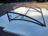 Козырек (каркас) под поликарбонат 1500*850 мм, фото 1