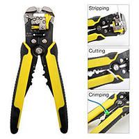 Стриппер для снятия изоляции кабеля + клещи для наконечников 2в1 ST 246