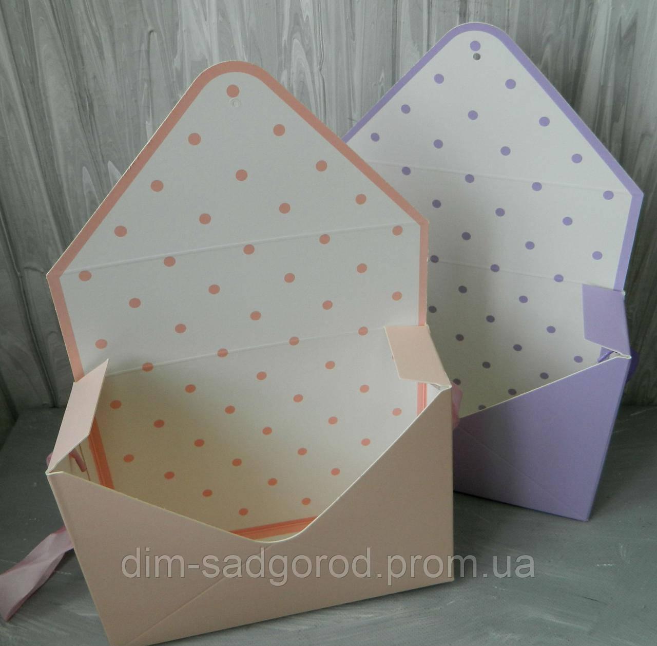 Подарункова коробка-конверт для квітів 21365-7-8, 23*36*8 см Подарочная коробка