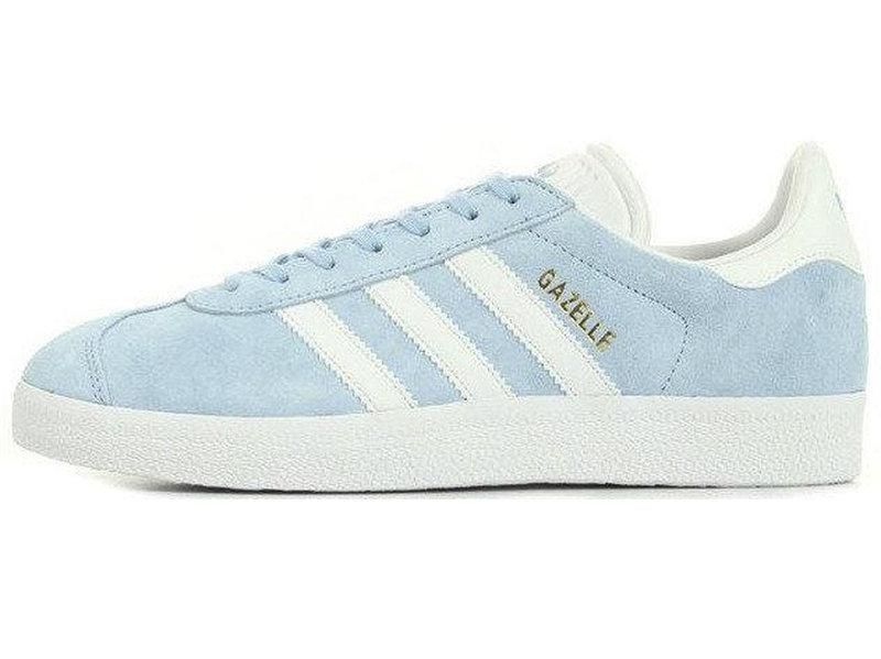 Женские кроссовки Adidas Gazelle Sky Blu/White