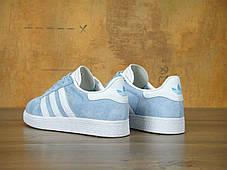 Женские кроссовки Adidas Gazelle Sky Blu/White, фото 2