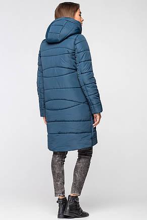 Теплая женская зимняя куртка VS MT-184 синяя (SIN55 - мурена), фото 2