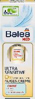 Крем проти зморшок для контурів очей Balea Med Ultra sensetive Q10 Anti-Falten 15 мл.