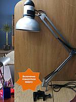 Лампа настольная N800 на струбцине серебро