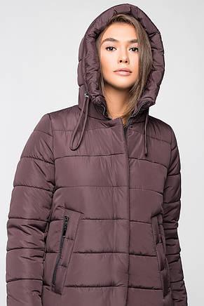 Теплая женская зимняя куртка VS MT-184 цвета горький шоколад (LV2), фото 2