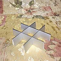*10 шт* / Перегородка для конфет / 120х120х30 мм / 9 ячеек / Маленьк / Металик-Белая, фото 1
