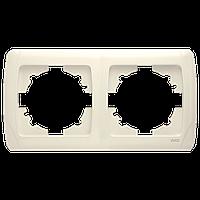 Двойная горизонтальная рамка VIKO Carmen Крем (90572102)