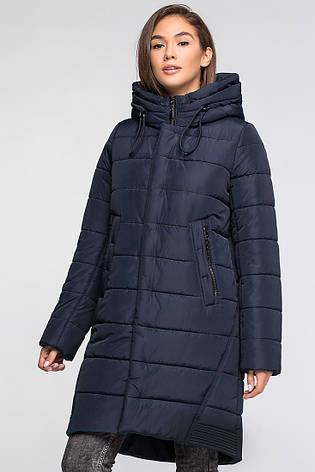 Теплая женская зимняя куртка VS MT-184 темно-синяя (SIN16), фото 2