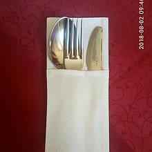 Куверт (конверт),на 3 прибора ЭКОНОМ ,ткань Ричард  гладь , белый.