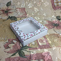 Коробка для пряников / 120х120х30 мм / печать-Сакур / окно-обычн / лк / цв, фото 1