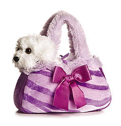Мягкая игрушка Милый щенок в фиолетовой сумочке  Aurora Plush Purple Pretty Pup FancyPal Purse