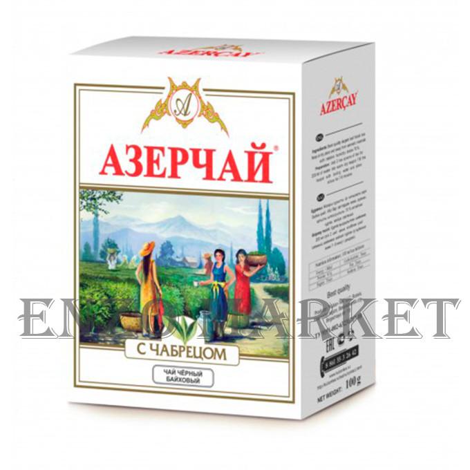 Азерчай черный чай c чабрецом, 100 грамм