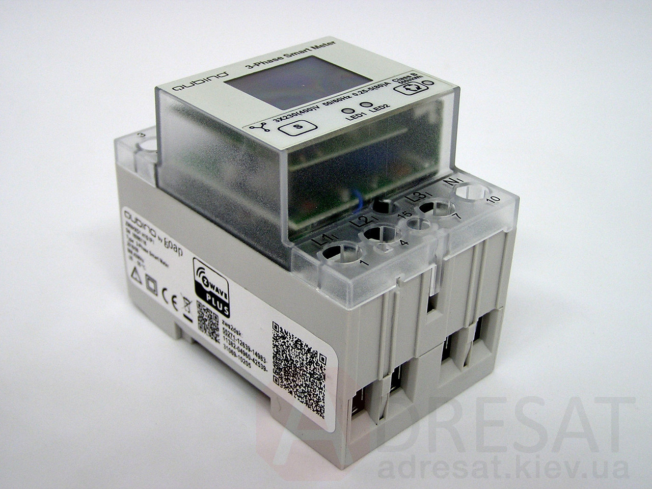 ZMNHXD1,Qubino 3-Phase Smart Meter, Z-Wave вимірювач енергоспоживання