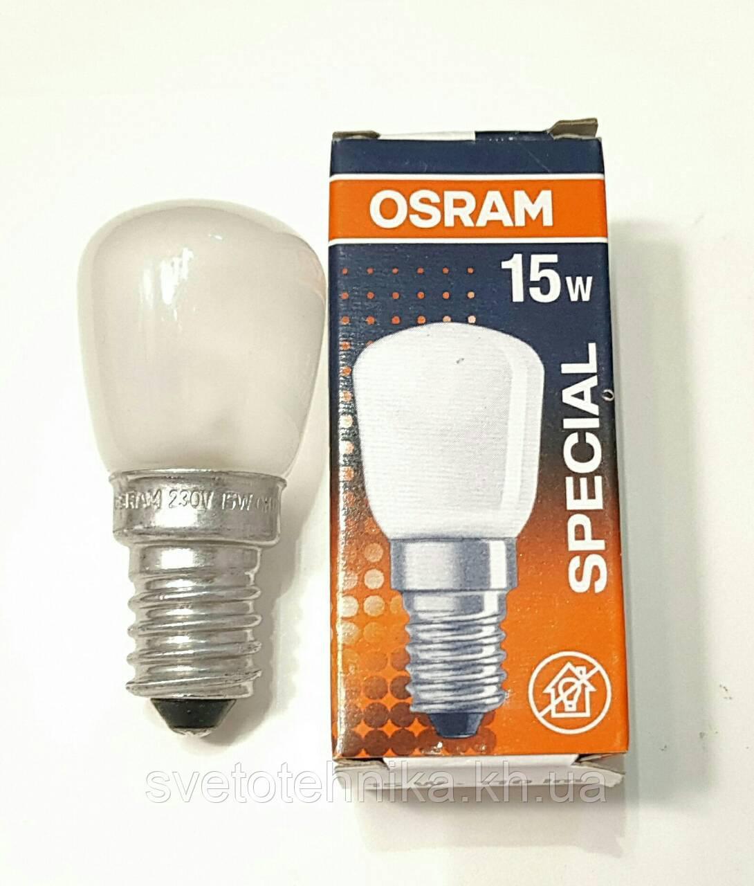 Лампа Osram special 15w E14 для холодильника