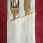 Куверт  (конверт) , на 2 прибора , ткань  Мати  рис.1812  белый, фото 2