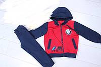 """Спортивный костюм детскийдля мальчиков """"BMW"""" 3-8 лет, темно-синий с красным"""