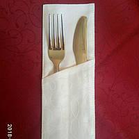 """Куверт  (конверт) , на 2 прибора , ткань """"Мати"""" рис.1812  белый"""
