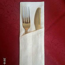Куверт  (конверт) , на 2 прибора , ткань  Мати  рис.1812  белый