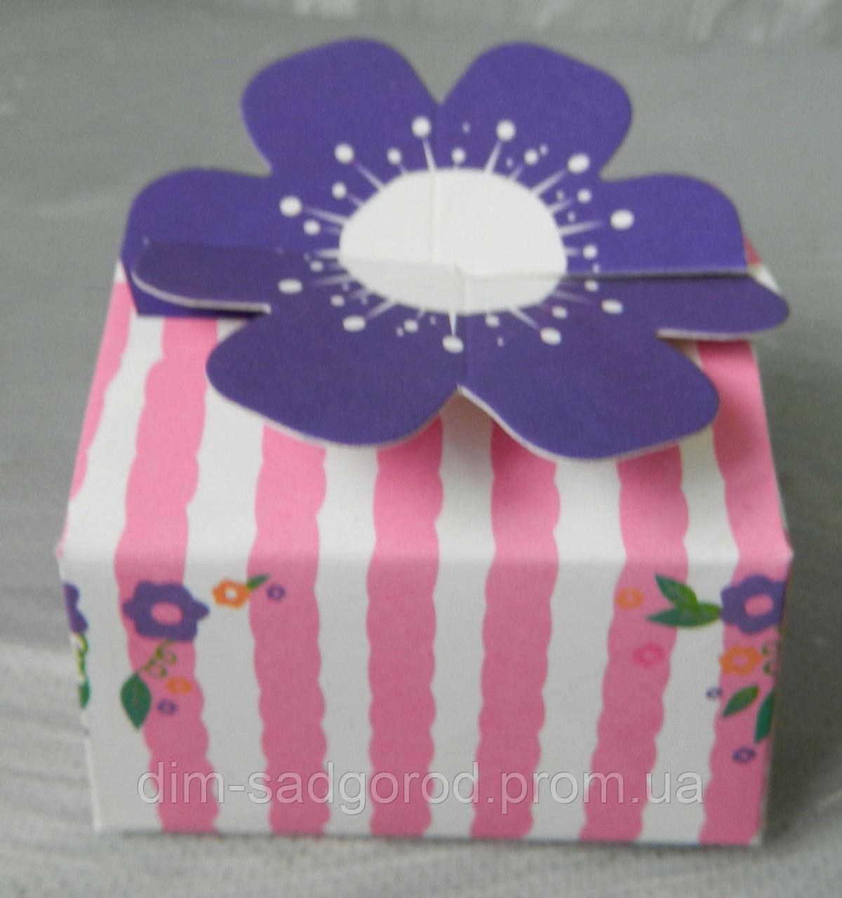 Подарункова коробка для біжутерії 10792-4-2, 7*7*6 см Коробка для бижутерии