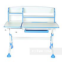 Парта трансформер для школьника для дома FunDesk Amare II Blue с выдвижным ящиком, фото 2
