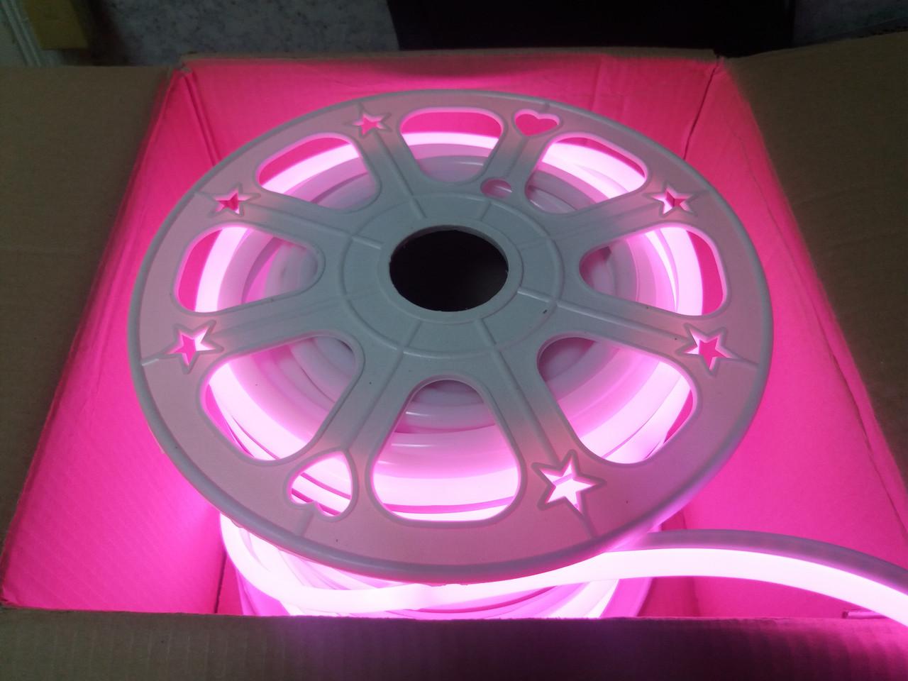 Гибкий Лед Неон 24V Розовый Pink IP68