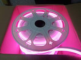 Гнучкий Лід Неон 24V Рожевий Pink IP68