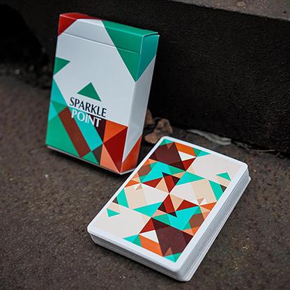 Карты игральные | Sparkle Point (Green) Playing Cards