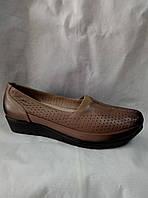 Туфли женские,коричневая кожа
