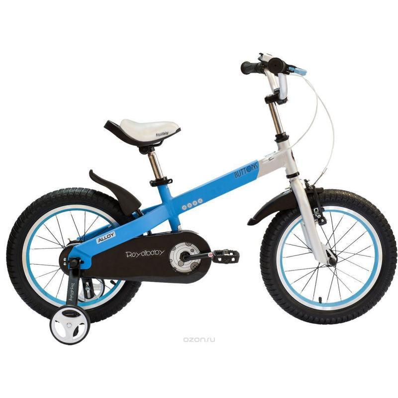 """Велосипед детский RoyalBaby BUTTONS DIY 14"""", бело- голубой"""