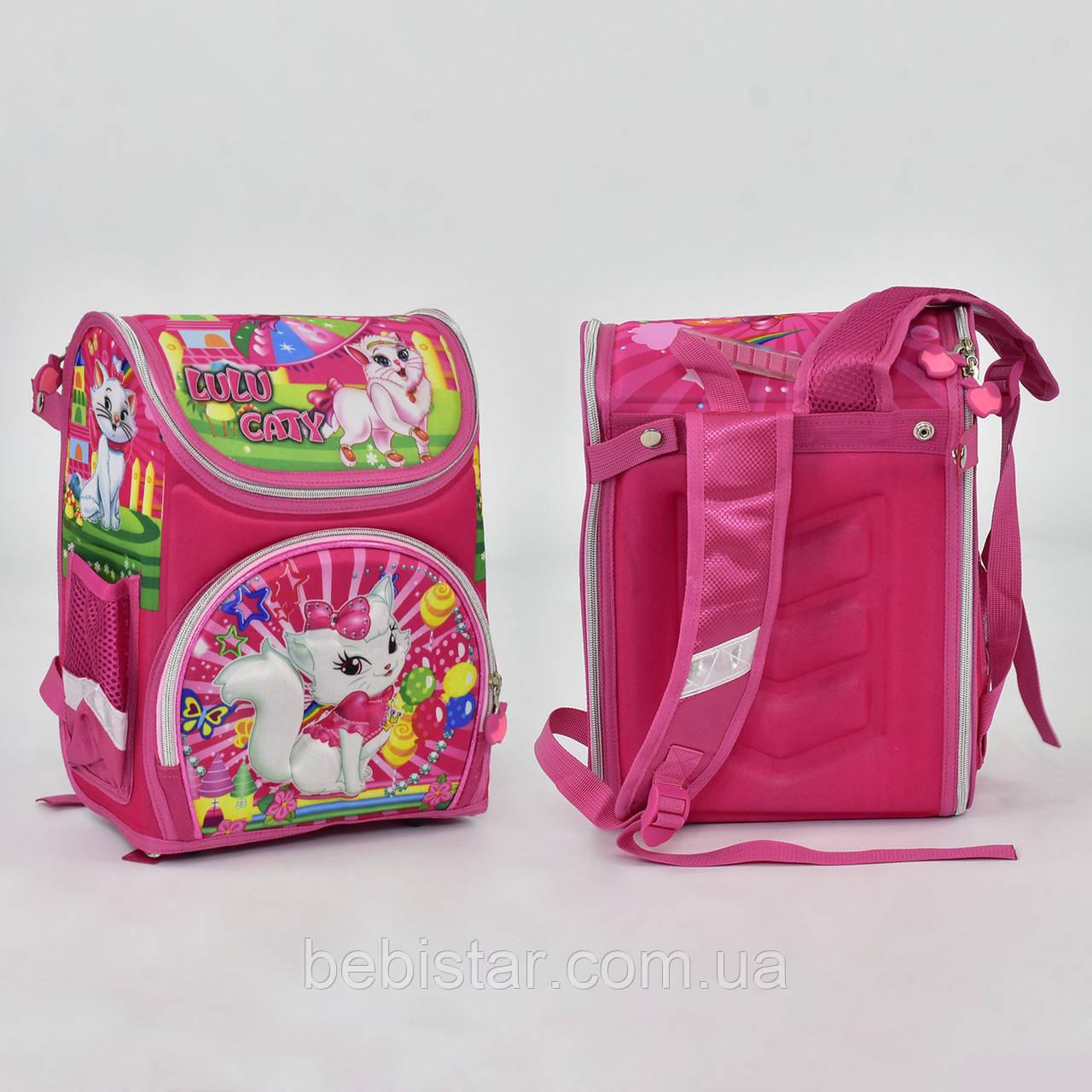 Шкільний рюкзак ортопедична спинка 2 кишені з зображенням кішечки Лулу